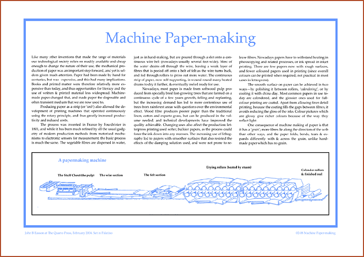 Machine Paper Making